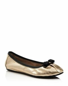 Salvatore Ferragamo Women's My Joy Metallic Leather Ballet Flats - 100% Exclusive