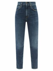 Joseph - Cashair Colour Block Cashmere Roll Neck Sweater - Womens - Navy Multi