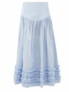 Nili Lotan - Ella Leopard-print Chiffon Slip Skirt - Womens - Leopard