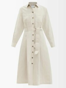 Diane Von Furstenberg - Issey Lemon-print Lace-trim Silk Dress - Womens - Black Multi