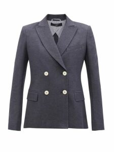 See By Chloé - Lace Trim Ruffled Cotton Voile Blouse - Womens - Black