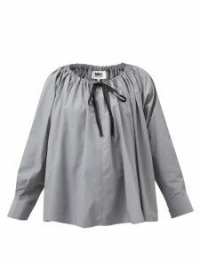 Chloé - High-rise Checked Wool-blend Shorts - Womens - Beige Multi