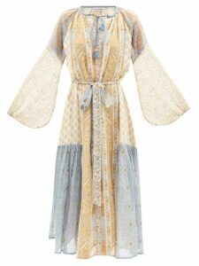 Staud - Pear Vegetable-print Cropped Linen Top - Womens - Ivory Multi