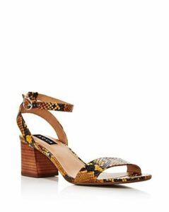Aqua Women's Carly Open-Toe Suede High-Heel Sandals - 100% Exclusive