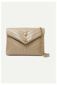 SAINT LAURENT - Loulou Medium Quilted Leather Shoulder Bag - Beige