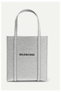 Balenciaga - Everyday Xxs Aj Printed Glittered Leather Tote - Silver