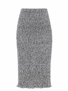 Bottega Veneta - Square Toe Leather Pumps - Womens - Black