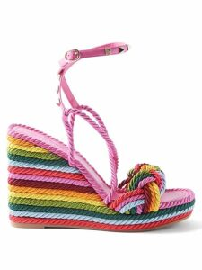 Chloé - Lauren Scallop Edge Python Effect Leather Pumps - Womens - Yellow