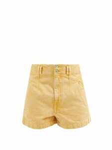 Ganni - Texas Suede Cowboy Boots - Womens - Tan