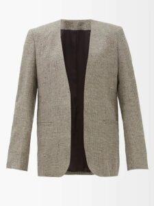Aquazzura - Purist Crocodile-effect Leather Loafers - Womens - Black
