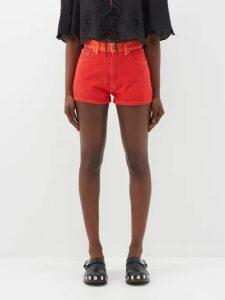 Valentino - Torchon Rockstud Leather Wedge Sandals - Womens - Burgundy