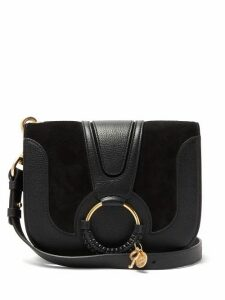 See By Chloé - Hana Small Suede And Leather Cross-body Bag - Womens - Black
