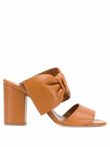 Paris Texas bow-detail sandals - Brown
