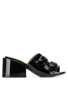 Marsèll double buckle strap mules - Black