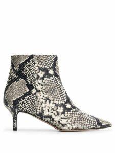 Marc Ellis snakeskin effect ankle boots - Grey