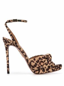 Aquazzura leopard print sandals - Black