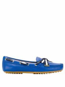 Lauren Ralph Lauren striped strap loafers - Blue
