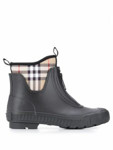 Burberry Vinage check rain boots - Black