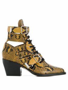 Chloé python print Rylee boots - Yellow