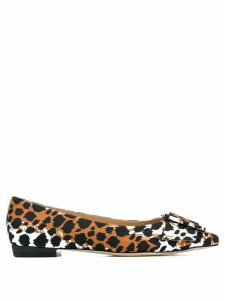 Sergio Rossi pointed tip ballerina shoes - Brown