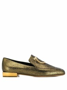 Salvatore Ferragamo logo detail loafers - Gold