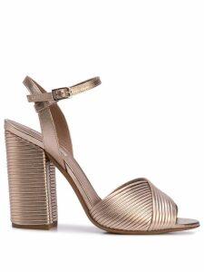 Tabitha Simmons Kali block heel sandals - Gold