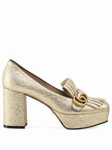 Gucci decollete in pelle loafers - Gold