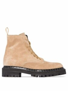 Proenza Schouler lace up boots - Brown