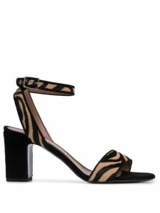 Tabitha Simmons Leticia zebra-print sandals - Black