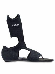 Prada knit fabric sandals - Black