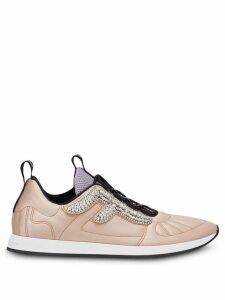 Fendi FFreedom crystal logo sneakers - Pink