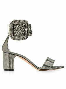 Casadei metallic buckle sandals - SILVER