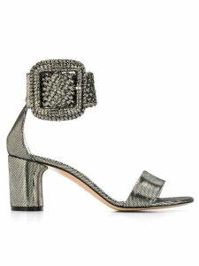 Casadei metallic buckle sandals - Silver