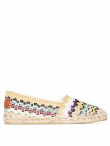 Castañer X Missoni Kenda flat espadrilles - Multicolour