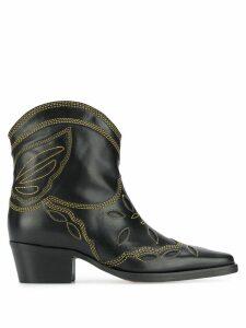 Ganni Texas Low boots - Black