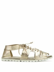 Marsèll cut out lace-up sandals - Metallic