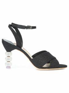 Sophia Webster glitter heel sandals - Black