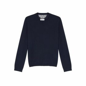 RED Valentino Navy Wool-blend Jumper