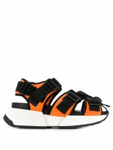 Mm6 Maison Margiela Safety Strap platform sandals - Orange