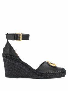 Valentino Valentino Garavani VLOGO sandals - Black