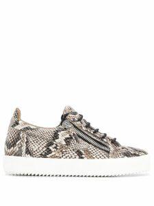 Giuseppe Zanotti snakeskin print sneakers - Neutrals