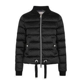 Herno Black Quilted Satin Jacket