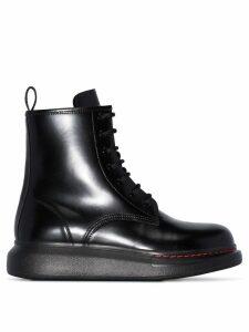 Alexander McQueen platform ankle boots - Black