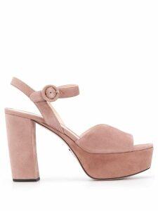 Prada platform 105 strappy sandals - NEUTRALS