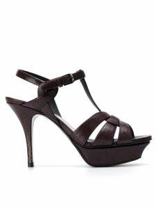Saint Laurent Tribute 75mm sandals - Red