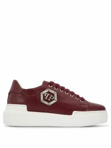 Philipp Plein Lo-Top Crystal sneakers - Red