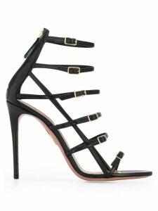 Aquazzura supermodel buckle sandals - Black