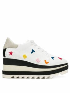 Stella McCartney logo embroidery Elyse sneakers - White