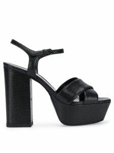 Saint Laurent Farrah 80mm sandals - Black