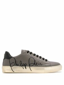 Philipp Plein signature low top sneakers - Grey